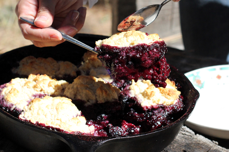 Berry Cobbler Serving