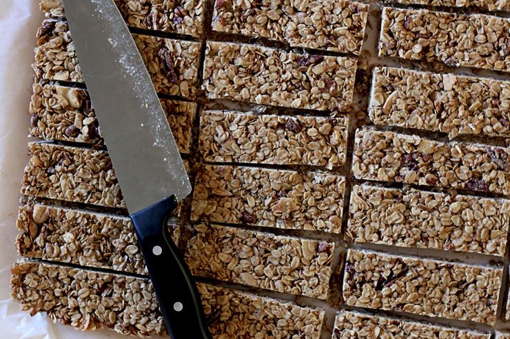 Maple Nut Granola Bars Cut
