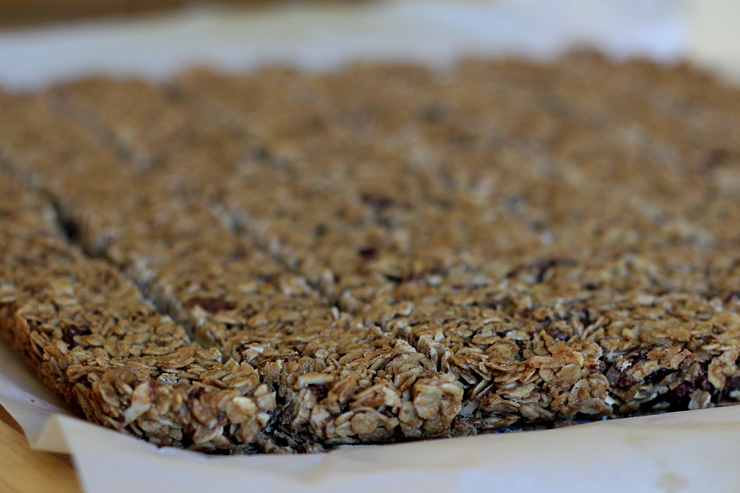 Maple Nut Granola Bars Cuts