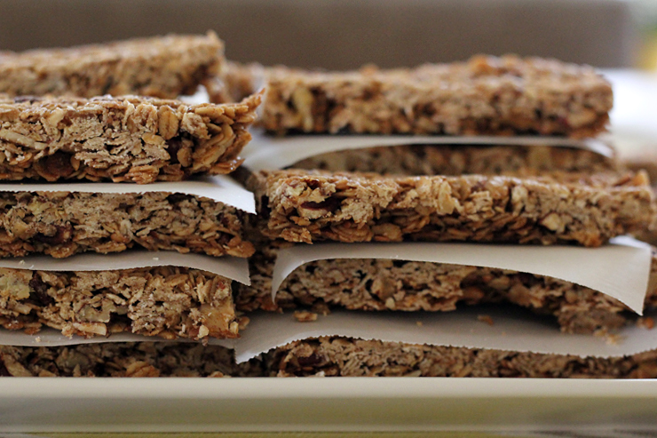 Maple Nut Granola Bars Stacks