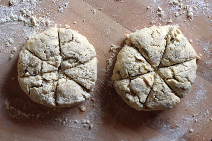 Apple Spice Scones Cut