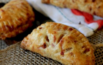 Apple hand pies with a flaky sharp cheddar crust.