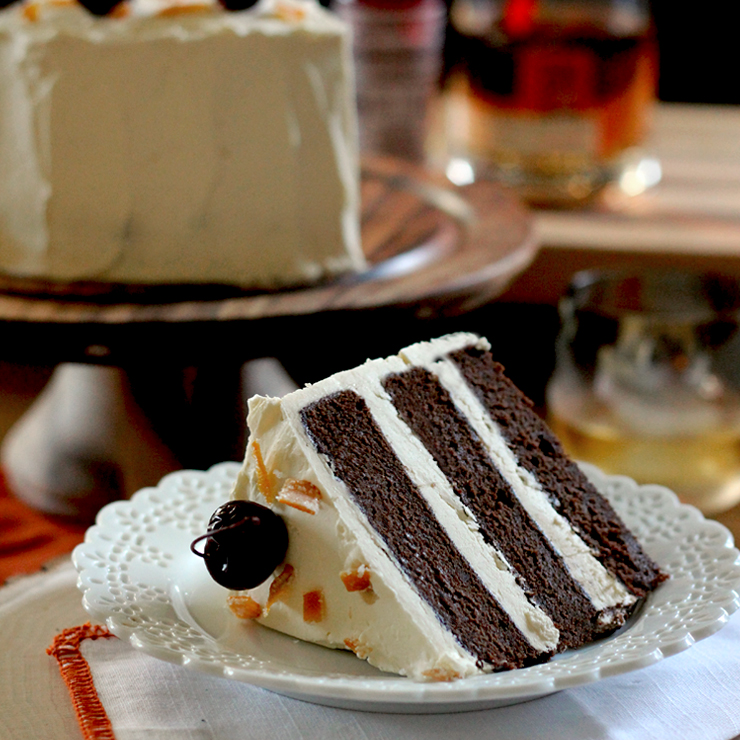 Call me old fashioned but this Whisky Old Fashioned Chocolate Cake ...