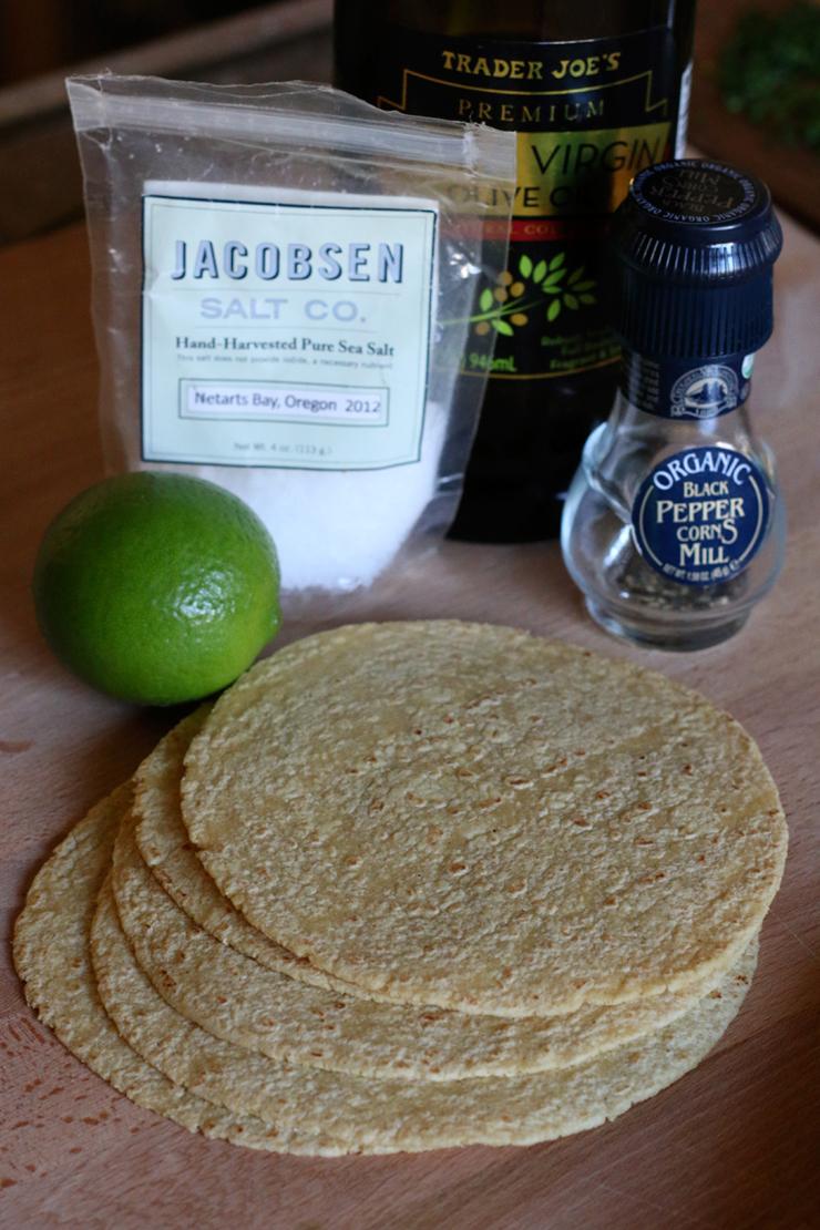 Baked Tortilla Chip Fixins