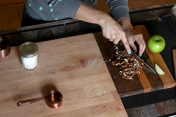 Pecan chopping