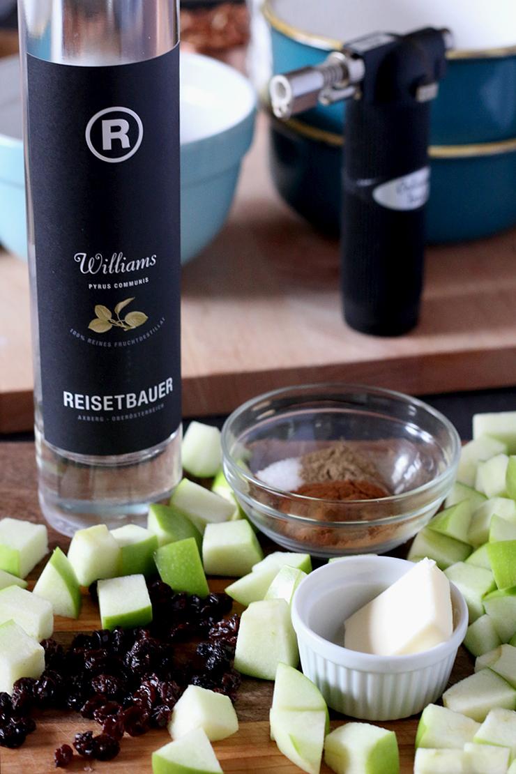 Apple Oatmeal Brulee Compote Ingredients
