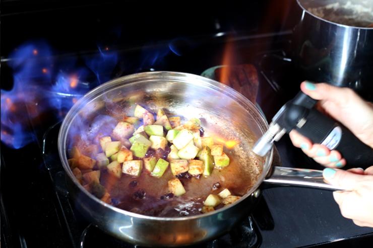 Apple Oatmeal Brûlée Flame