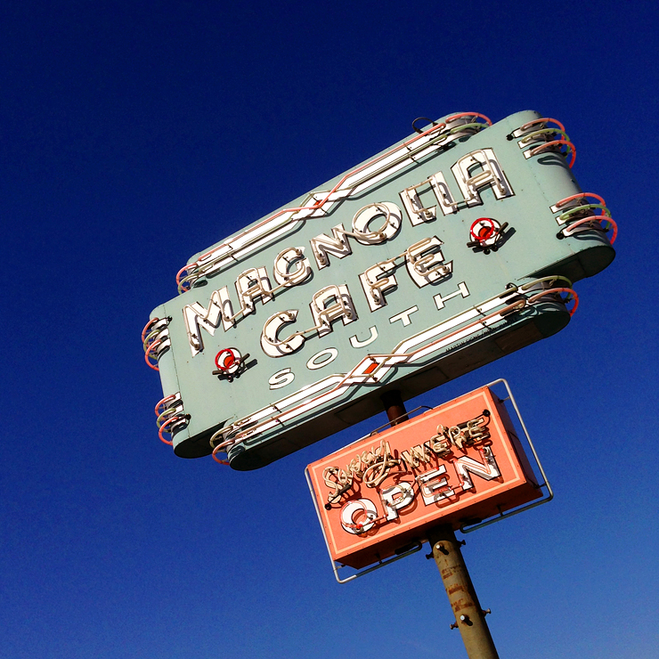 Austin Magnolia Cafe Sign
