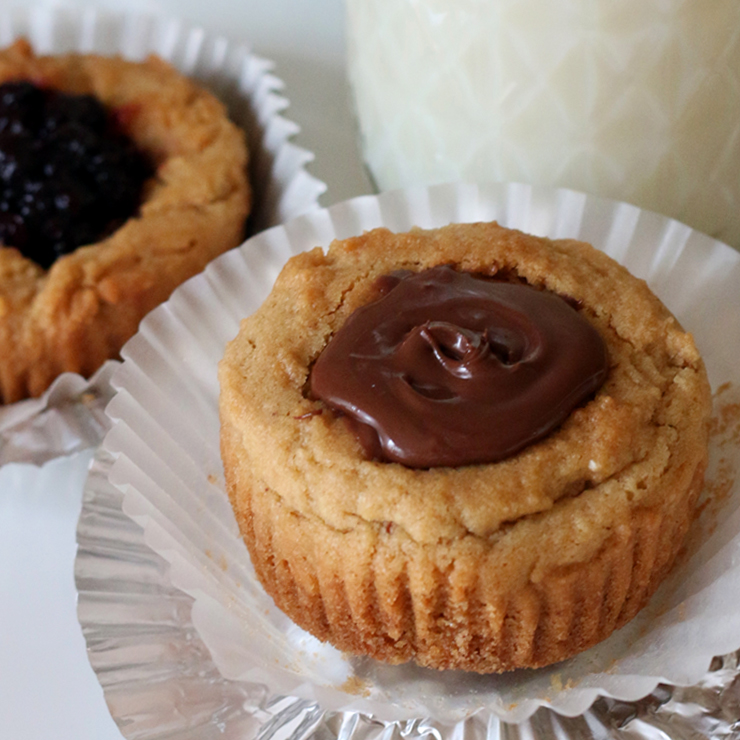 Peanut Butter Cookie Cups Nutella