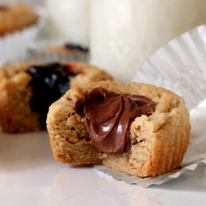Peanut Butter Cookie Cups with Nutella or Jam Filling Recipe