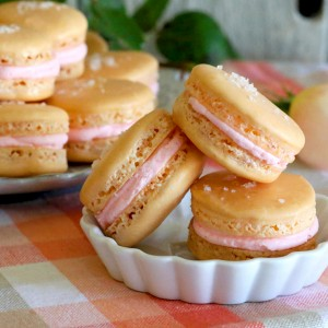 Salted Grapefruit Macarons With Gin Buttercream