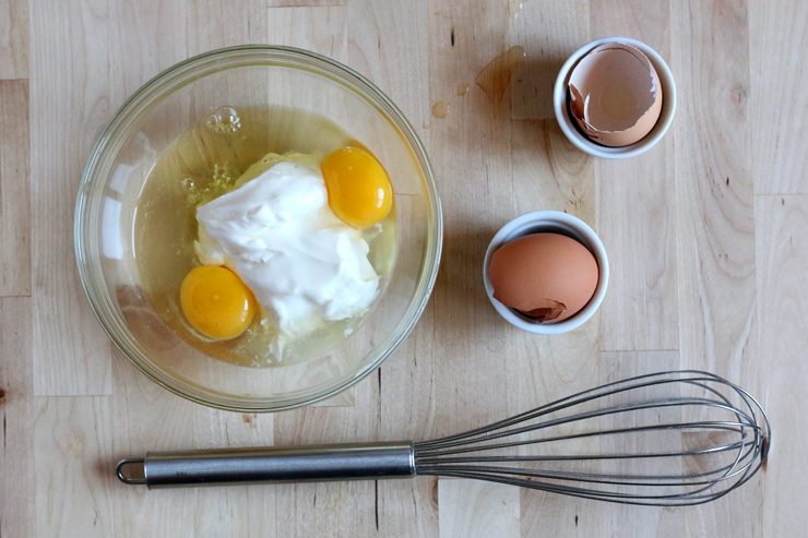 Sour Lemon Cherry Scones Egg and Sour Cream