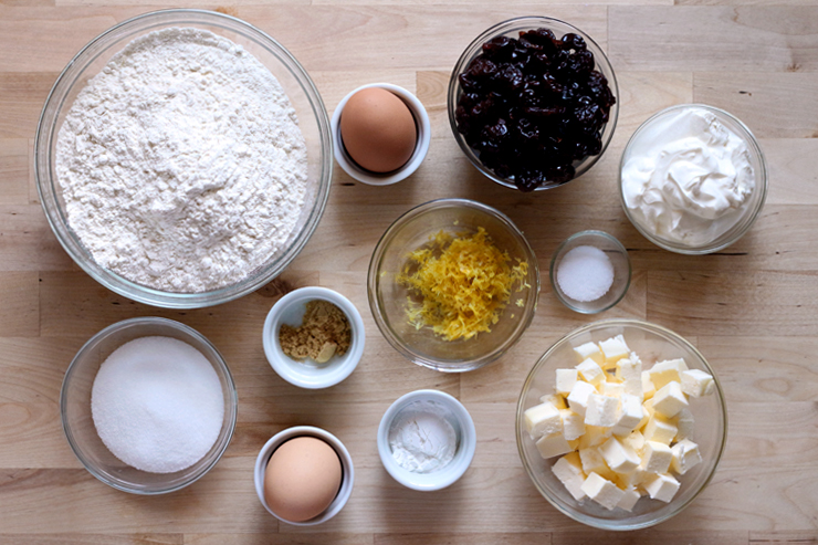 Sour Lemon Cherry Scone Ingredients
