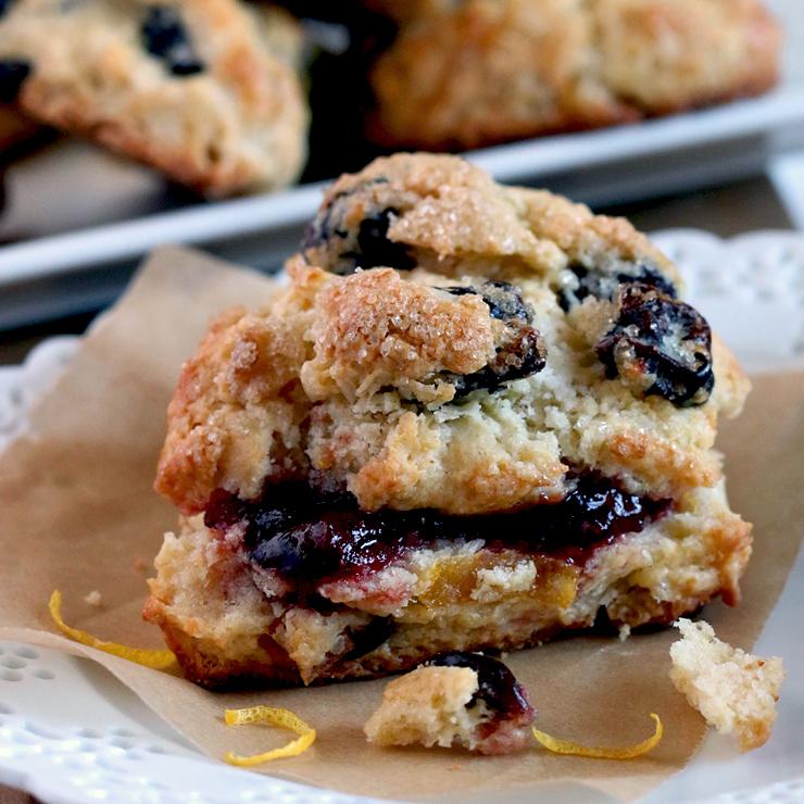 Baking the Goods - Sour Lemon Cherry Scones with Sour Cream Recipe ...