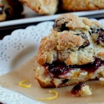 Sour Lemon Cherry Scones with Sour Cream Recipe