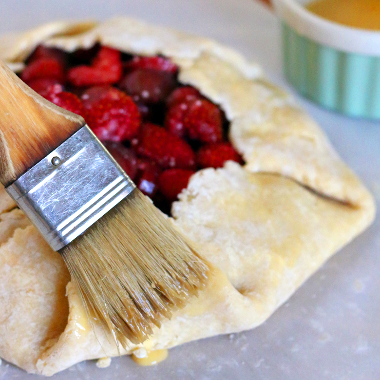 Strawberry Rhubarb Galette Brush