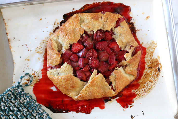 Strawberry Rhubarb Galette Cooling