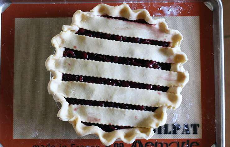 Cherry Bourbon Pie Formed