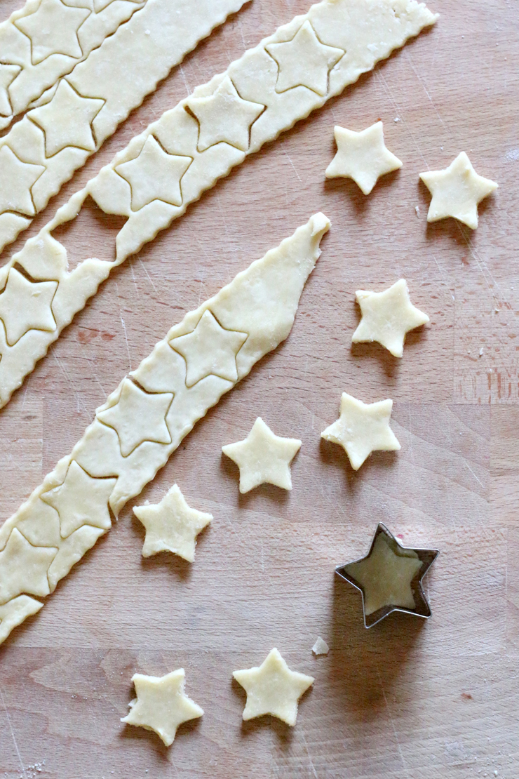 Cherry Bourbon Pie Stars