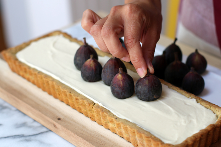 Fig Mascarpone Tart Fig Toppers