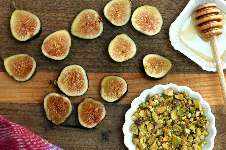 Figs for Fig Mascarpone Tart with Pistachio Black Pepper Crust
