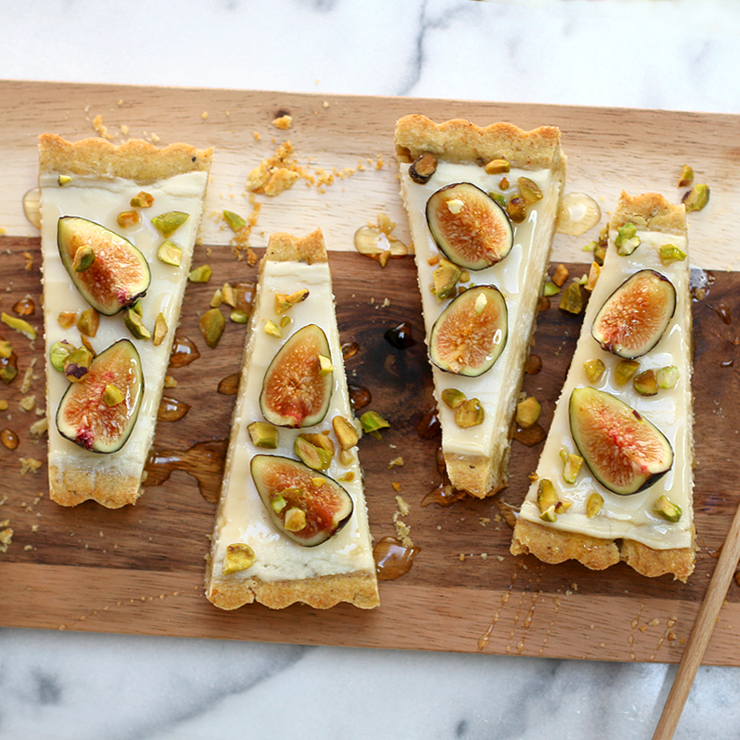Fig Mascarpone Tart with Pistachio Black Pepper Crust by Baking The Goods