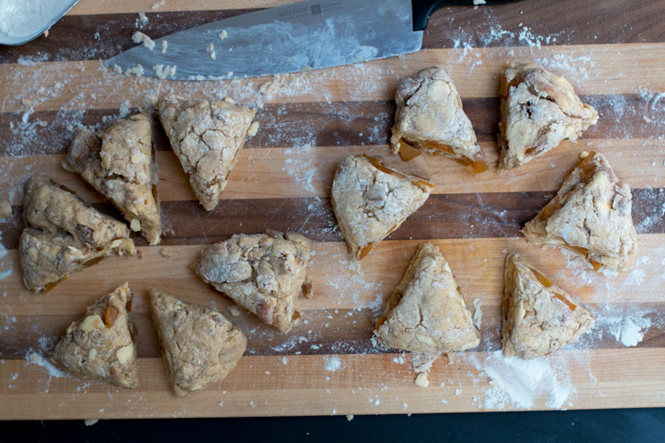 Persimmon Cinnamon Scones Sliced