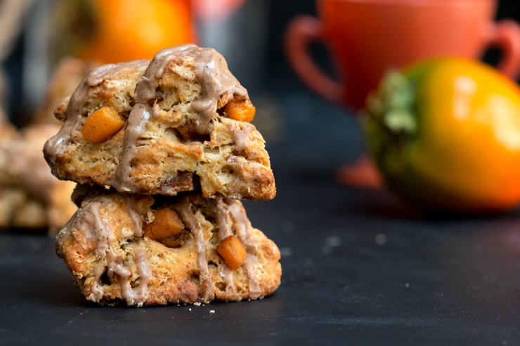 Persimmon Cinnamon Scones set the tone for Fall.