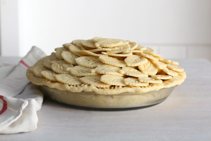 Apple Cheddar Pie crust layer