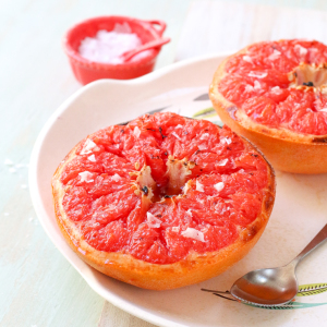 Broiled Grapefruit with Brown Sugar and Sea Salt