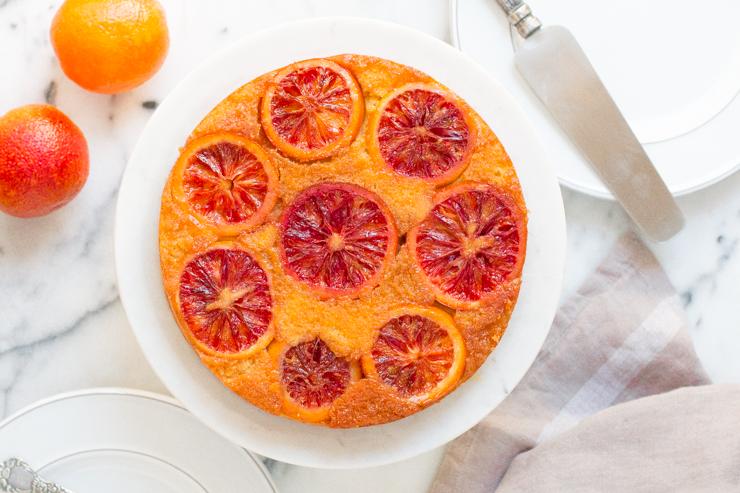 Blood Orange Olive Oil Upside-Down Cake - Baking the Goods