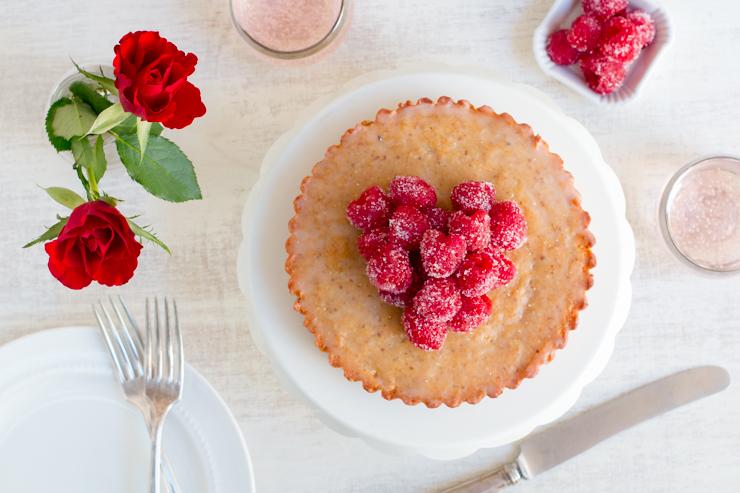 Raspberry Financier Cake for 2