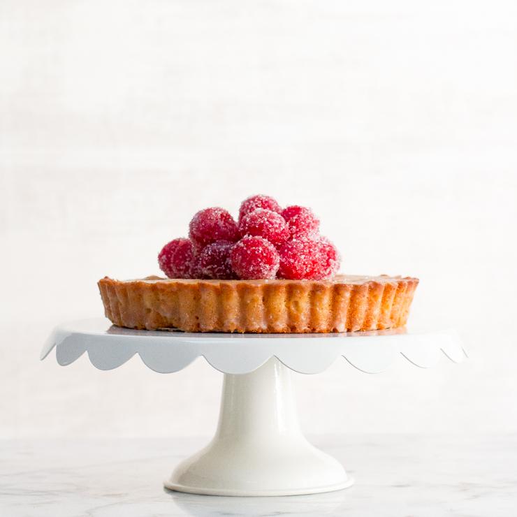 Gluten Free Raspberry Financier Cake For 2