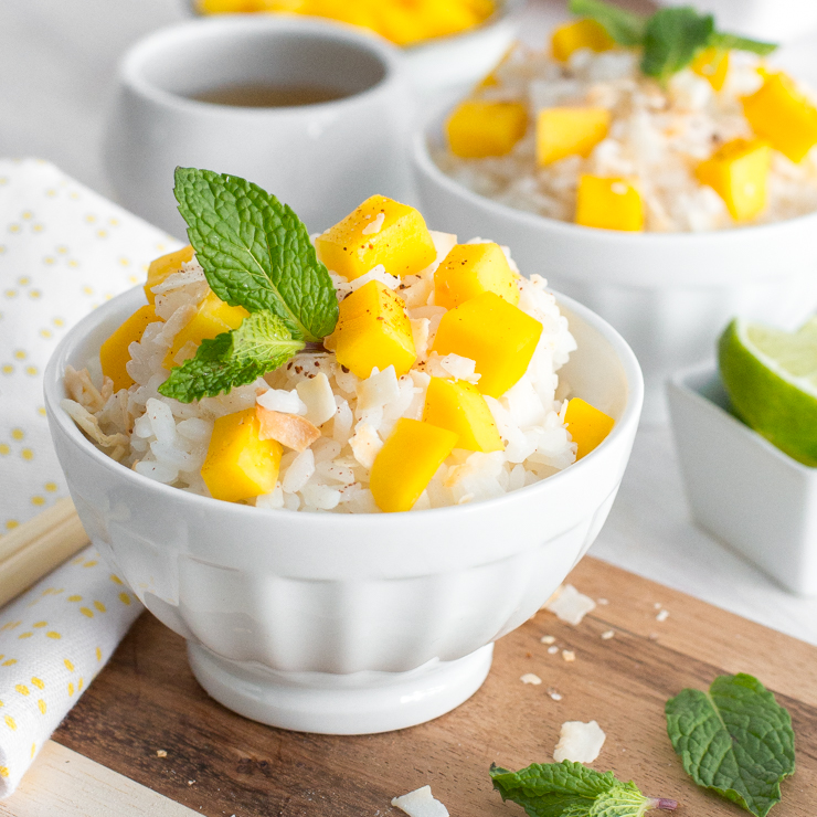 Coconut Sticky Rice with Mango