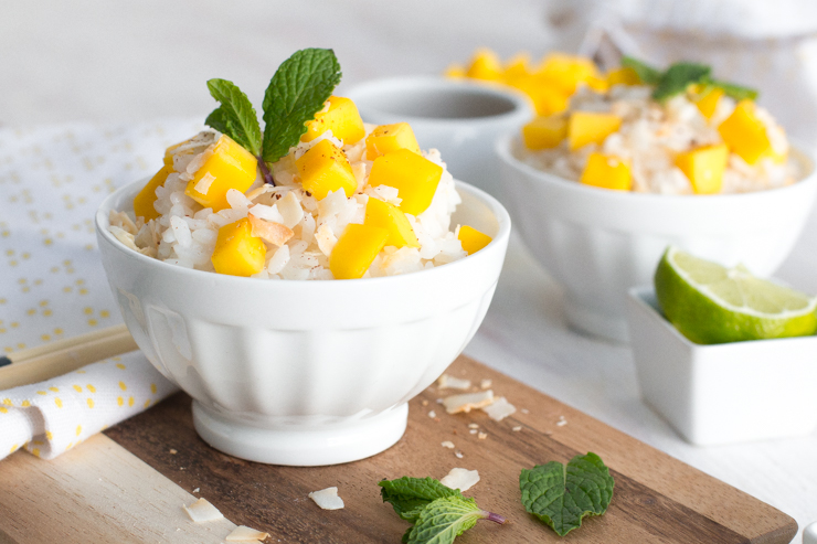 twist on Coconut Sticky Rice with Mango; incorporating lush coconut ...