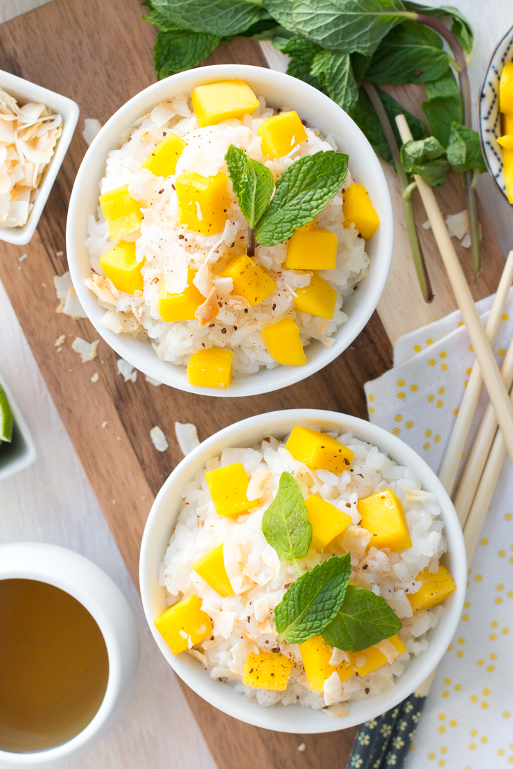 how to cut mango for sticky rice