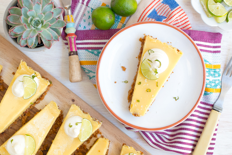 Key Lime Tequila Tart with Pretzel Crust.