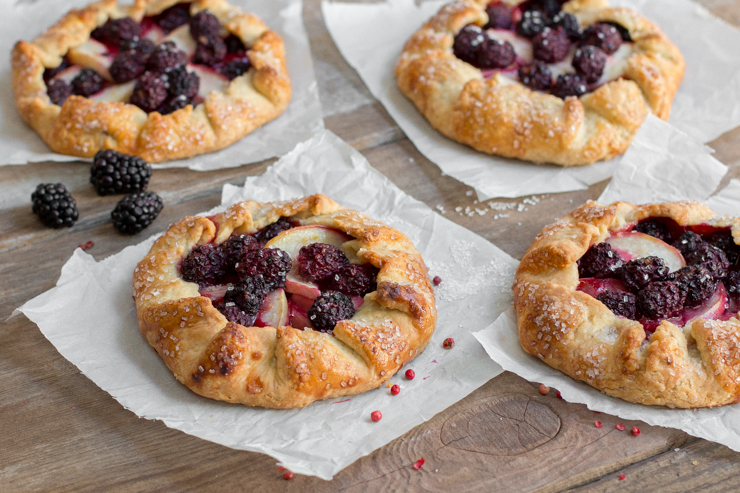The new definition of summer madness, Blackberry Nectarine Galettes with Pink Peppercorn Crust