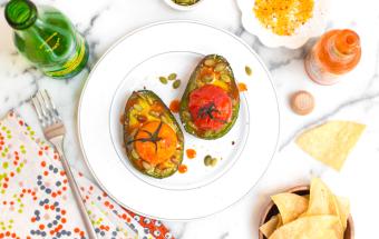 Broiled Avocado and Tomato with Pepitas