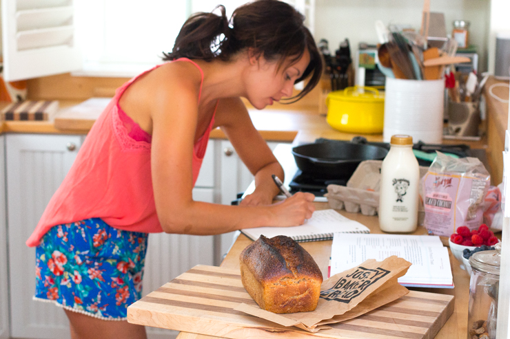 Becky Sue developing a Baking The Goods recipe