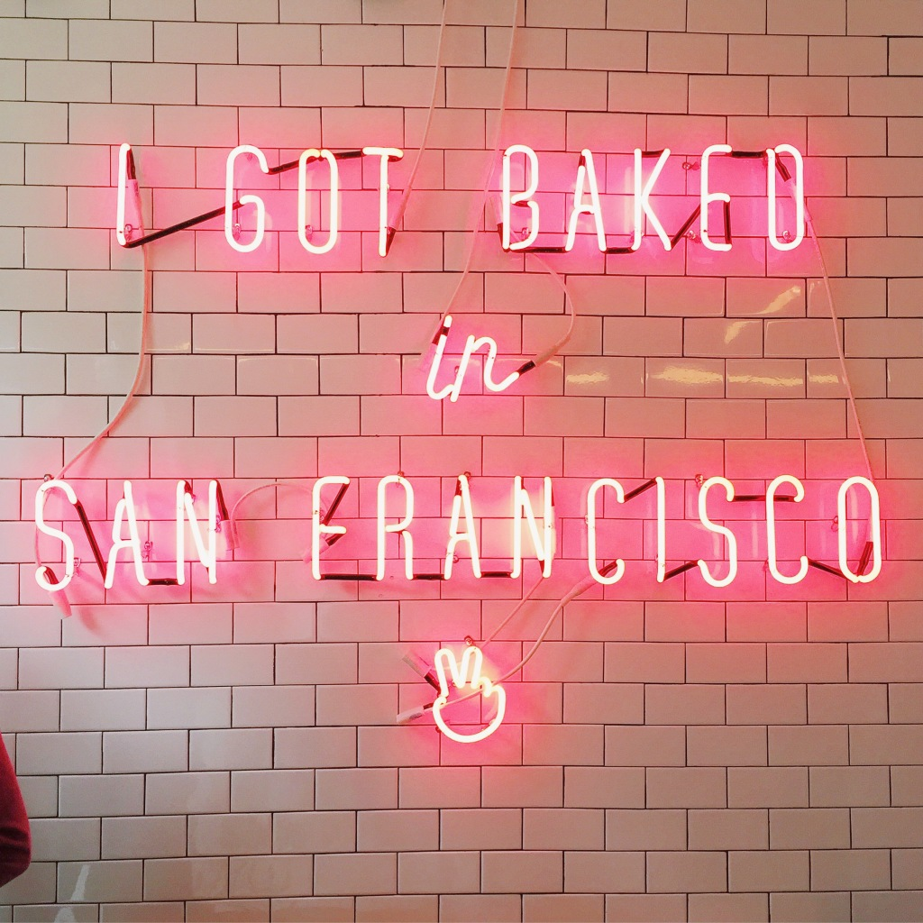 I got baked in San Francisco neon sign at Mr. Holmes Bakehouse