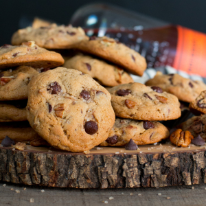 Smoky Bourbon Pecan Chocolate Chip Cookies