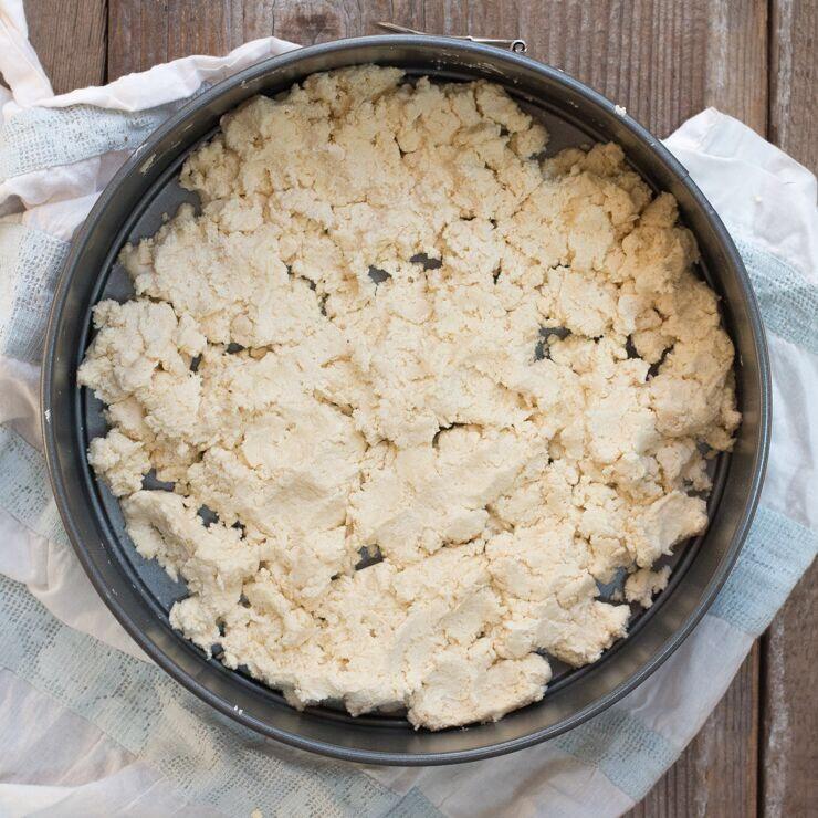 crumbly shortbread dough