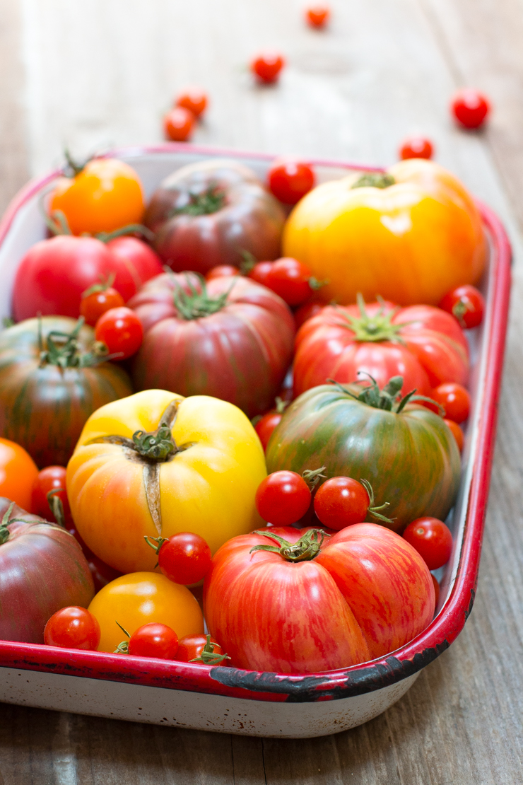 More bright, colorful tomatoes.