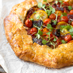 BLT Galette with Pecorino Pepper Crust