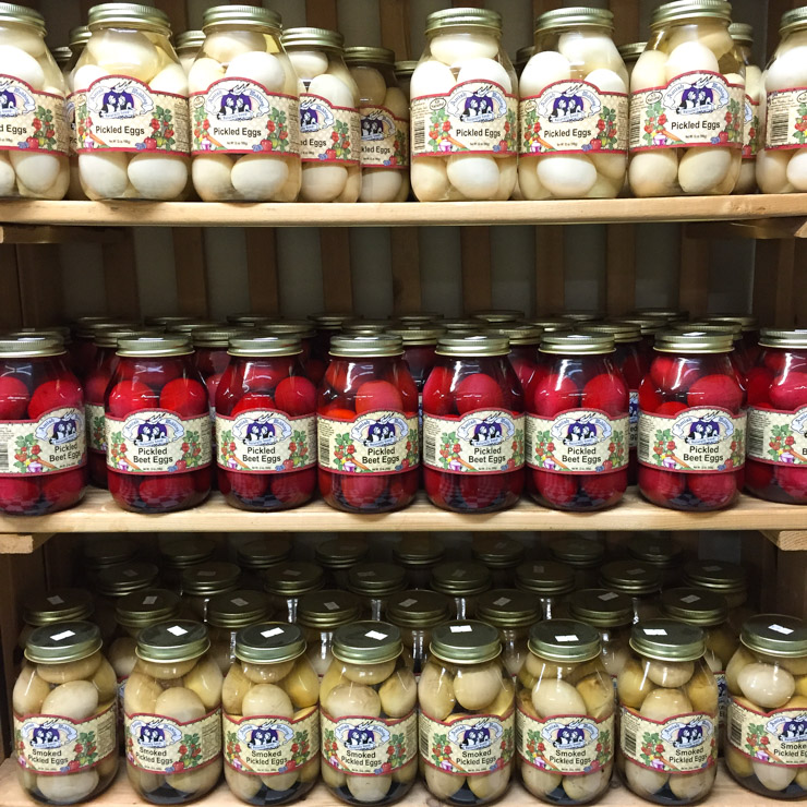 Pickled Eggs at The Country Mercantile