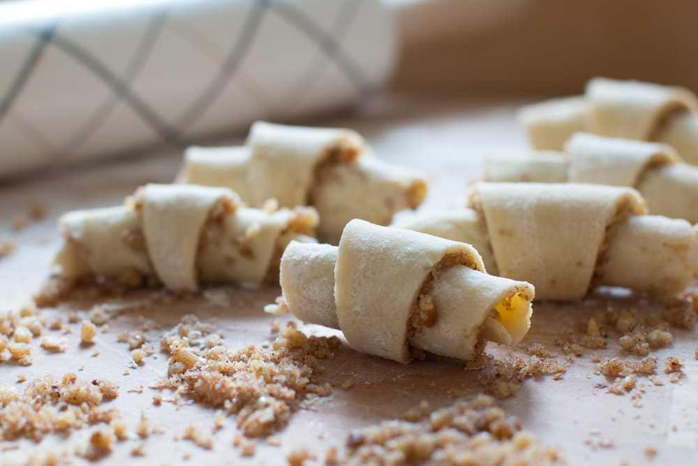 Maple Walnut Rugelach rolls