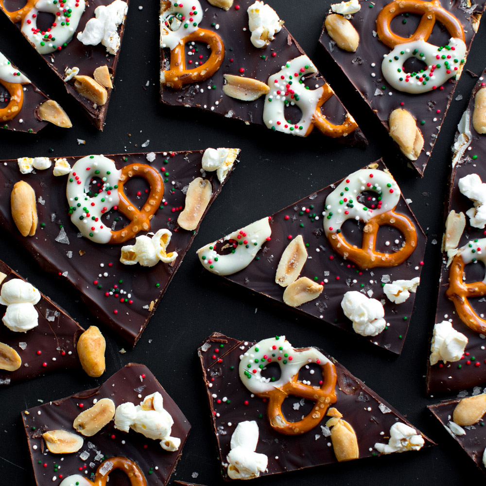 Snack Attack Chocolate Bark, as tasty as it is festive.