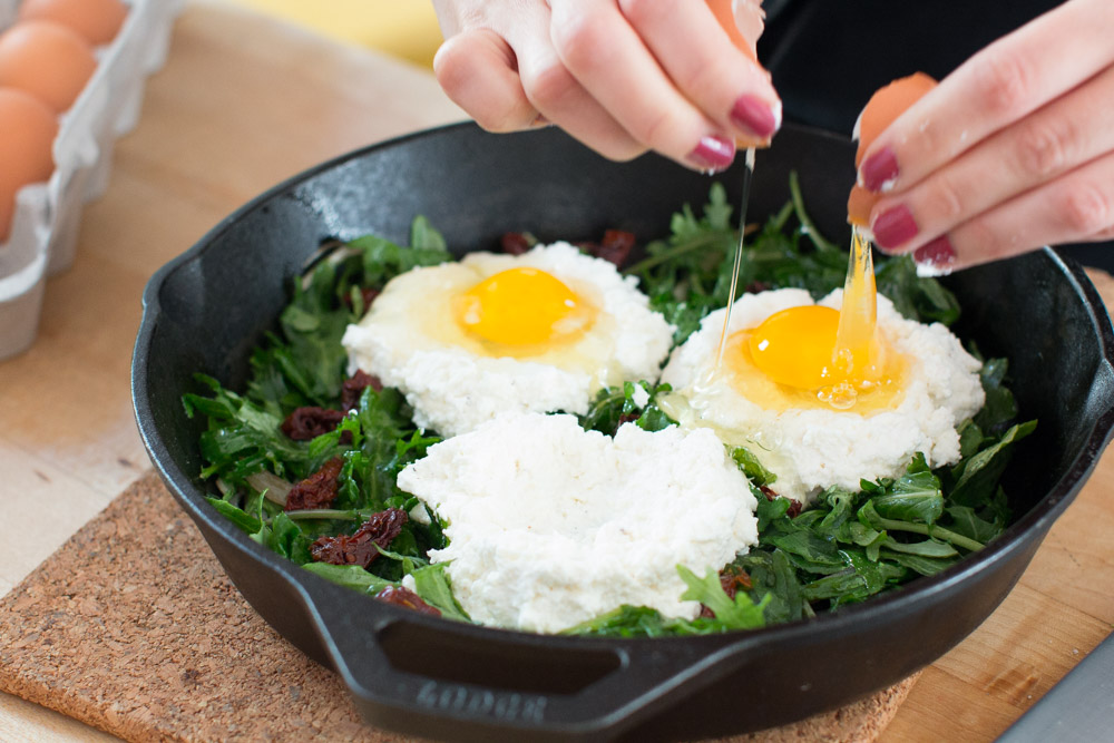 ricotta and eggs