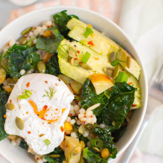 WARM + ROASTED WINTER SALAD BOWL BY OH SHE GLOWS